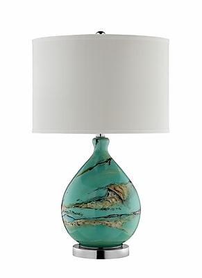 Stein World 150 Watt Morenci Table Lamp, Danesi Stone - Mix of browns, black, cream, but predominately green (99765)