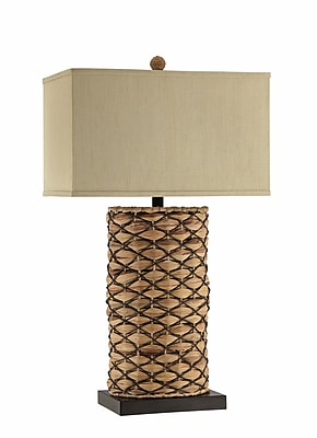 Panama Jack 150 Watt Beacon Table Lamp, Sea grass Brown, Dark Brown (99767)