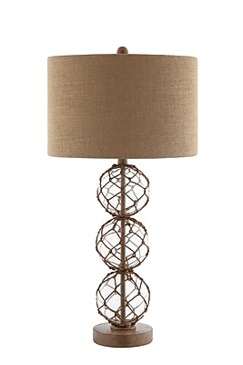 Stein World 100 Watt Breeze Table Lamp, Clear, Brown (99789)