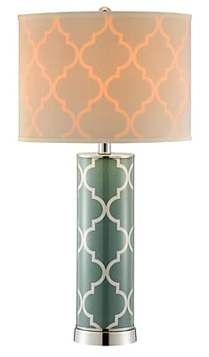 Stein World 100 Watt Casablanca Table Lamp, Green (99854)