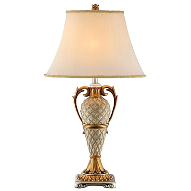 Stein World 150 Watt Clarion Table Lamp, Silver/Gold (99858)