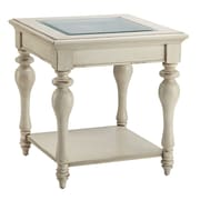Stein World Delphi Wood End Table, White, Each (115-021)