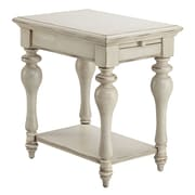 Stein World Delphi Wood End Table, White, Each (115-041)
