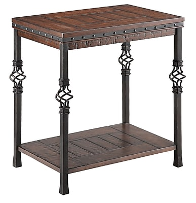 Stein World Sherwood Wood/Veneer End Table, Brown, Each (490-041)