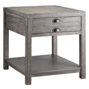 Stein World Bridgeport Wood/Veneer End Table, Gray, Each (611-021)