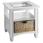 Stein World Nantucket Wood End Table, White, Each (679-022)