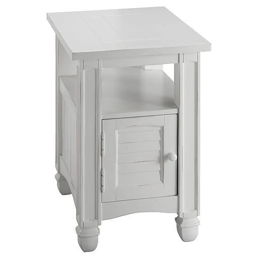 Stein World Nantucket Wood Side Table, White, Each (679-041)