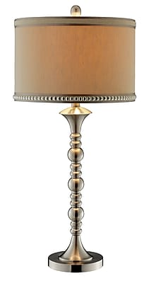 Stein World 150 Watt Badcock Table Lamp, Brushed Nickel Finish (98345)