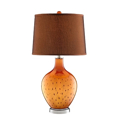 Stein World 150 Watt October Table Lamp, Orange, Black (99821)