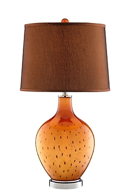 Stein World 150 Watt October Table Lamp, Orange, Black (99821)