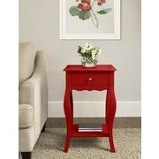 Altra Furniture Medium Density Fiberboard Accent Table, Red, Each (5061296PCOM)