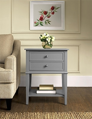 Altra Franklin Accent Table with 2 Drawers; Gray (5062196PCOM)