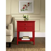 Altra Furniture Wood Accent Table, Red, Each (5062296PCOM)