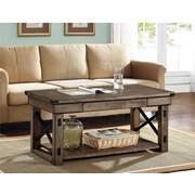 Altra Furniture Wildwood Wood/Veneer Coffee Table, Gray, Each (5056096PCOM)