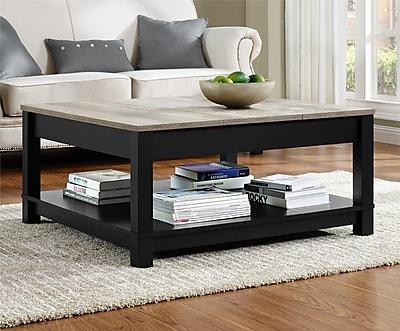 Altra Furniture Carver Medium Density Fiberboard Coffee Table, Black, Each (5047196PCOM)