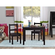 Cosco Hazel Kid's Table and Chairs Set, Espresso