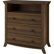 Altra Oakridge 3 Drawer Media Dresser, Homestead Oak
