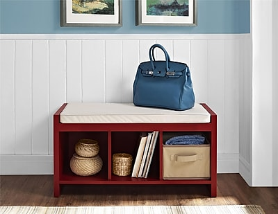 Ameriwood Home Parsons Storage Bench, Black (3610196)