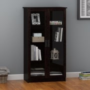 Altra Quinton Point Glass Door Bookcase, Espresso