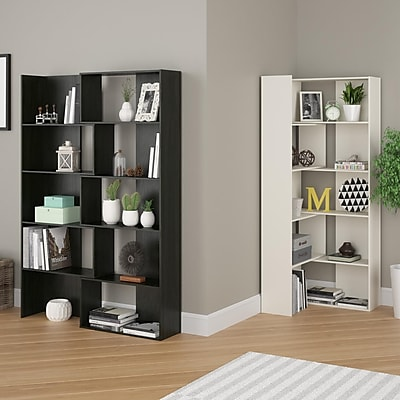 Cosco Elements Loft Bed with Bookcase and Toy Box Bookcase with Door, Resort Cherry (5861207P)