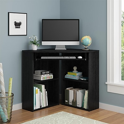 "Ameriwood Home Caleb 39""W Corner Desk, Black Oak (92026PCOM)"
