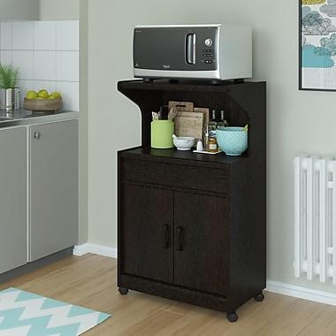 Reggie Microwave Cart with Shelf, Espresso