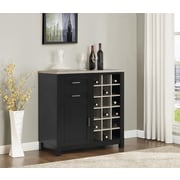 Altra Carver Bar Cabinet, Black/Sonoma Oak (5277296PCOM)