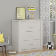Cosco Riley 3 Drawer Dresser, White (5841015PCOM)