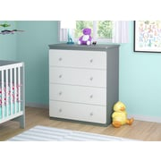 Cosco Willow Lake 4 Drawer Dresser, Light Slate Gray/White (5870321PCOM)
