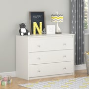 Cosco Elements 3 Drawer Dresser, White (5848015PCOM)