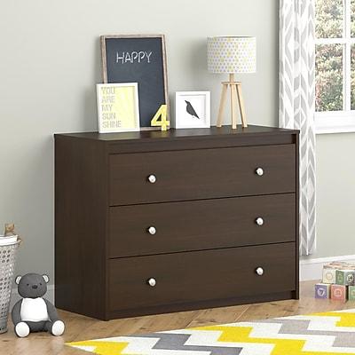 Cosco Elements 3 Drawer Dresser, Resort Cherry (5848207PCOM)