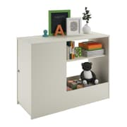 Cosco Elements Toy Box Bookcase with Door, White (5851015PCOM)