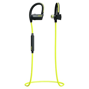 Jabra® Sport Pace 100-97700000-02 Wireless Over-The-Ear Headphone, Yellow/Black