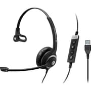 Sennheiser Circle SC 230 USB CTRL II Over-the-Head Headset, Black/Silver