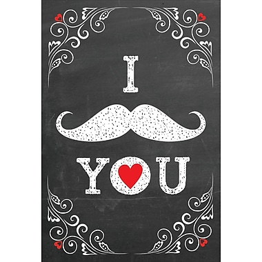 Rosedale Greetings Card, Valentine's, I Moustache You - Text Card
