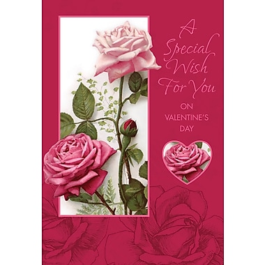 Rosedale Greetings Card, Valentine's, A Special Wish For You - Roses