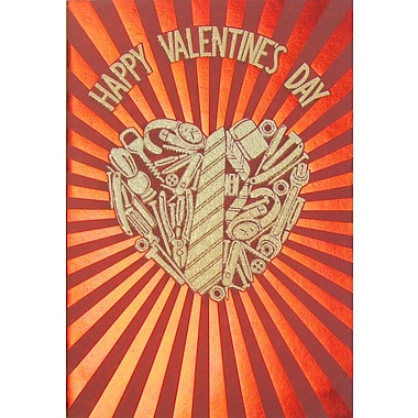 Rosedale Greetings Card, Happy Valentine's Day - Tool Heart