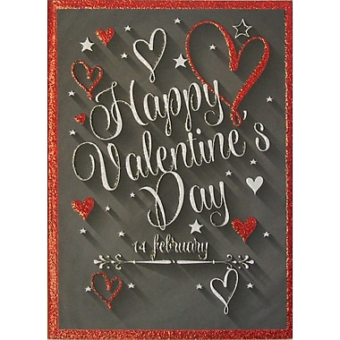 Rosedale Greetings Card, Happy Valentine's Day - Text Card