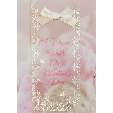 Rosedale Greetings Card, Valentine's,A Warm Wish - Roses & Bow