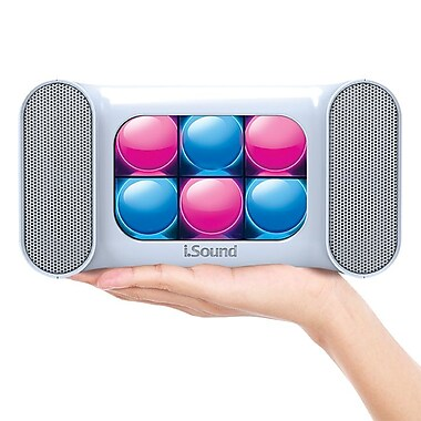 Mini Dancing Lights Bluetooth Speaker, White