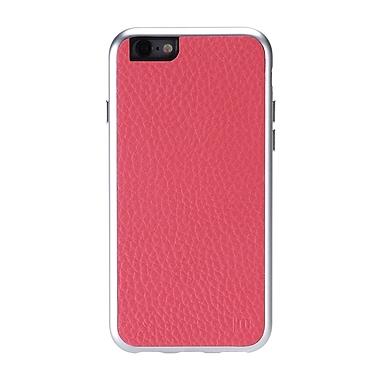 AluFrame - Étui en cuir pour iPhone 6/6S, rose
