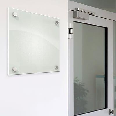 Best-Rite™ Enlighten™ Glass Dry-Erase Boards, Frosted Pearl, 12x12