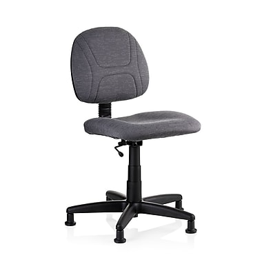 Reliable SewErgo Fabric Computer and Desk Office Chair, Armless, Gray/Silver (100SE)