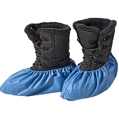 BlueMed Azure Classic Shoe Covers, Waterproof, Resistant and Anti-Skid, Universal, in Bags, Sky Blue, 300/Case