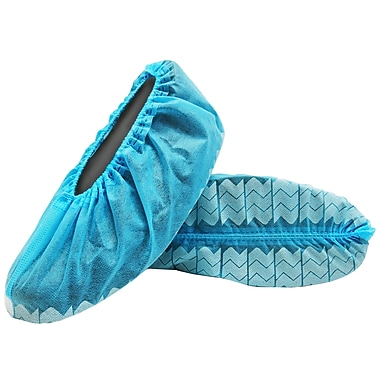 BlueMed Wave Shoe Covers, Anti-Skid, XL, Blue, in Easy Pull-Out boxes of 600/Case