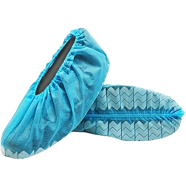 BlueMed Wave Shoe Covers, Anti-Skid, XL, Blue, in Easy Open Bags of 500/Case