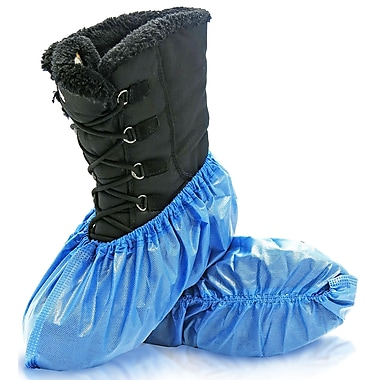 BlueMed Azure Shoe Covers, Waterproof and Anti-Skid, XL, in Bags, Sky Blue, 300/Case