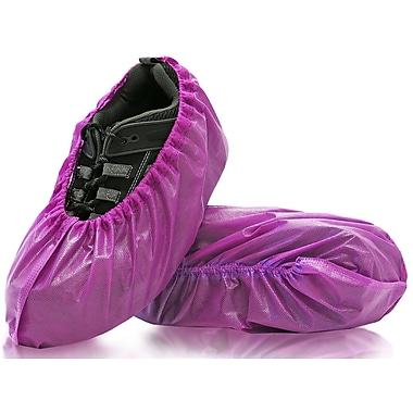 BlueMed Lilly Shoe Covers, Resistant, XL, in Boxes, Purple, 240/Case