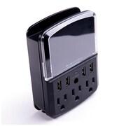 BlueDiamond – Bloc de protection Defend 540 joules avec 3 prises et 4 USB, à économie d'espace