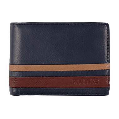 Roots RFID Slimfold/Removable ID Wallet, Mens, Navy, RT20554-R56N